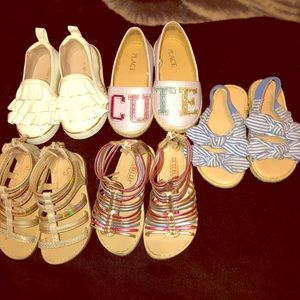 Size 6 gently used baby girls shoes